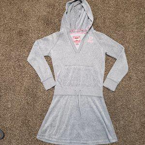 Gap Velour Hooded Dress Size L (10)